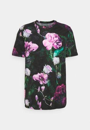 FACIONNE - Print T-shirt - black/pink