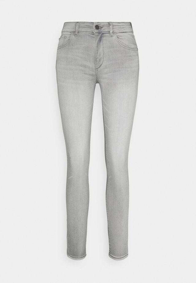 FLORENCE SKINNY MID RISE INSTASCULPT - Jeans Skinny Fit - grey denim