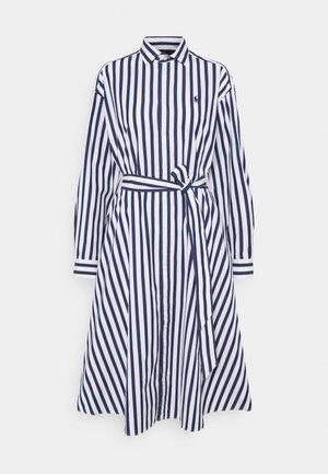 Košilové šaty - navy/white