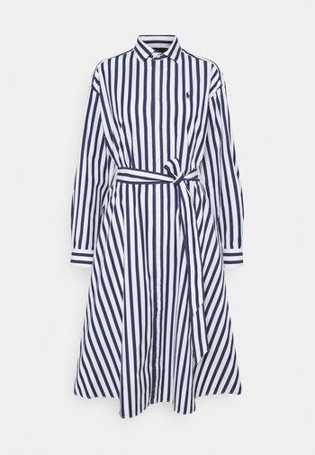 Shirt dress - navy/white