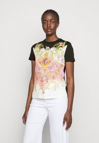 Versace Jeans Couture - LADY - Print T-shirt - black/pink - 0
