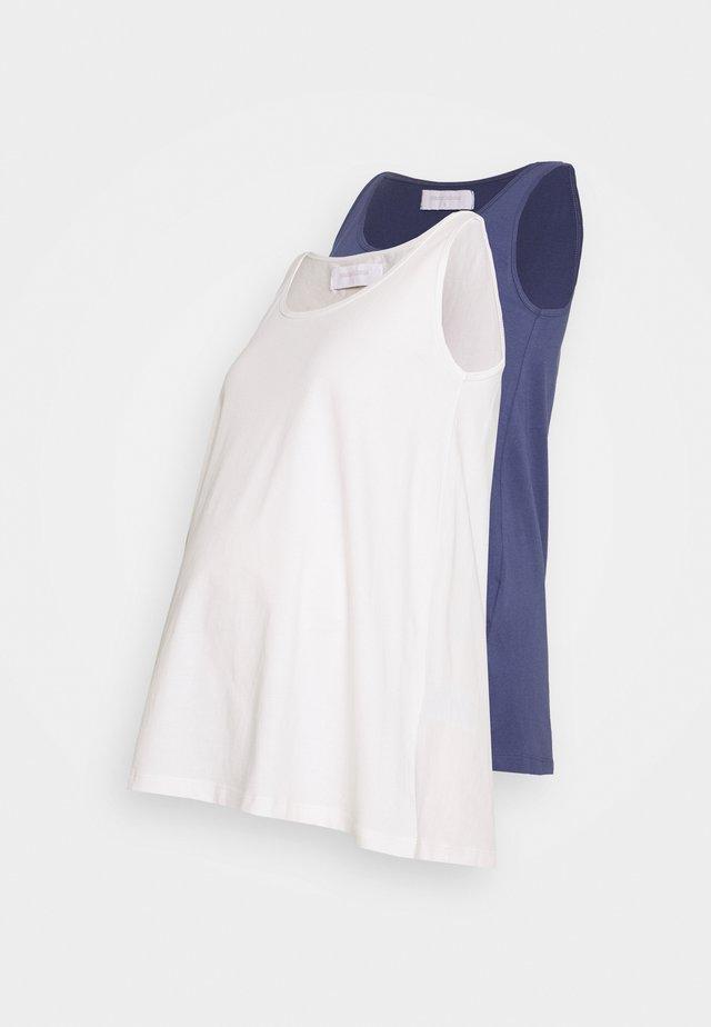 MLEVANA TANK 2 PACK - Top - crown blue/snow white