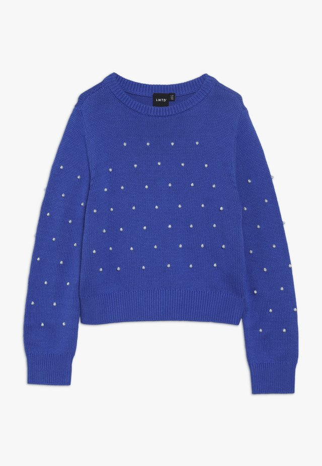 NLFLACOLE - Jumper - dazzling blue/white