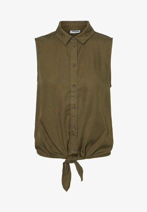 Button-down blouse - olive night
