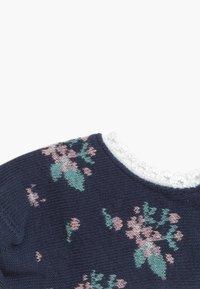 Ewers - FÜSSLINGE MIT BLÜMCHEN 3 PACK - Ponožky - tinte/grau/weiß - 3