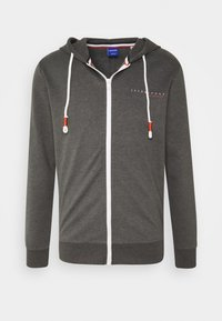 Jack & Jones - JORCLAYTON ZIP HOOD - veste en sweat zippée - dark grey melange - 3
