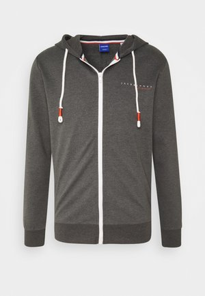 JORCLAYTON ZIP HOOD - Zip-up hoodie - dark grey melange