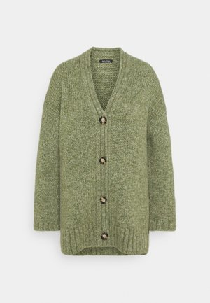 CARDIGAN LONGSLEEVE V-NECK - Cardigan - dried sage