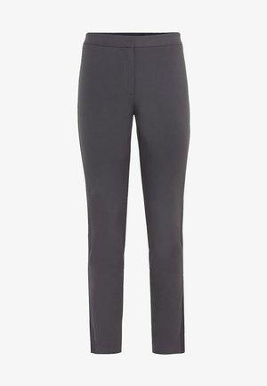 MIT SATINSTREIFEN - Trousers - middengrijs
