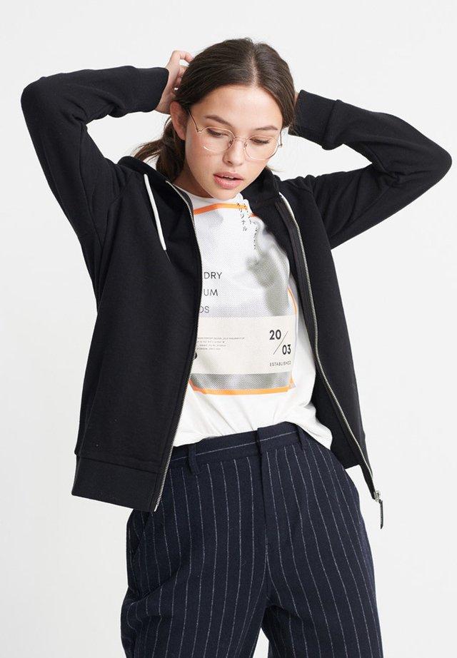 ORANGE LABEL ELITE - Zip-up hoodie - black