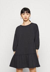 ONLY Petite - ONLDEA 3/4 TUNIC DRESS - Day dress - black - 0