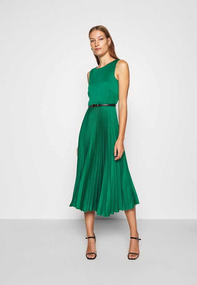 PLEATED DRESS - Day dress - forest green
