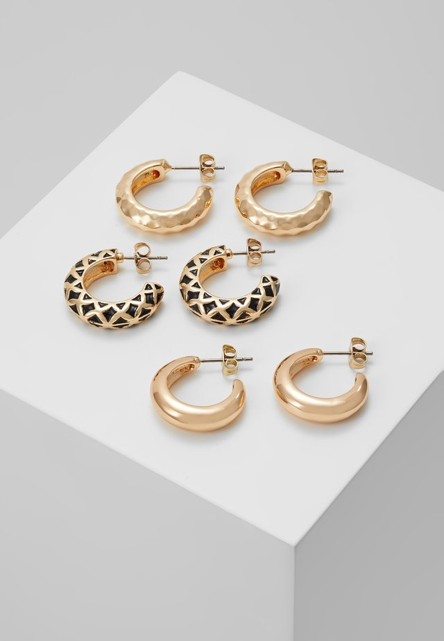 PCCLARY EARRINGS 3 PACK - Orecchini - gold-coloured