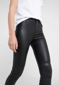 KARL LAGERFELD - PATENT BIKER PANTS - Leather trousers - black - 3