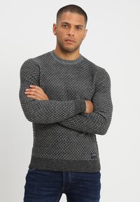 Pier One - Strikpullover /Striktrøjer - mottled grey - 0