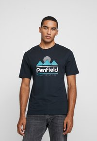 Penfield - ABRAMS - Print T-shirt - black - 0