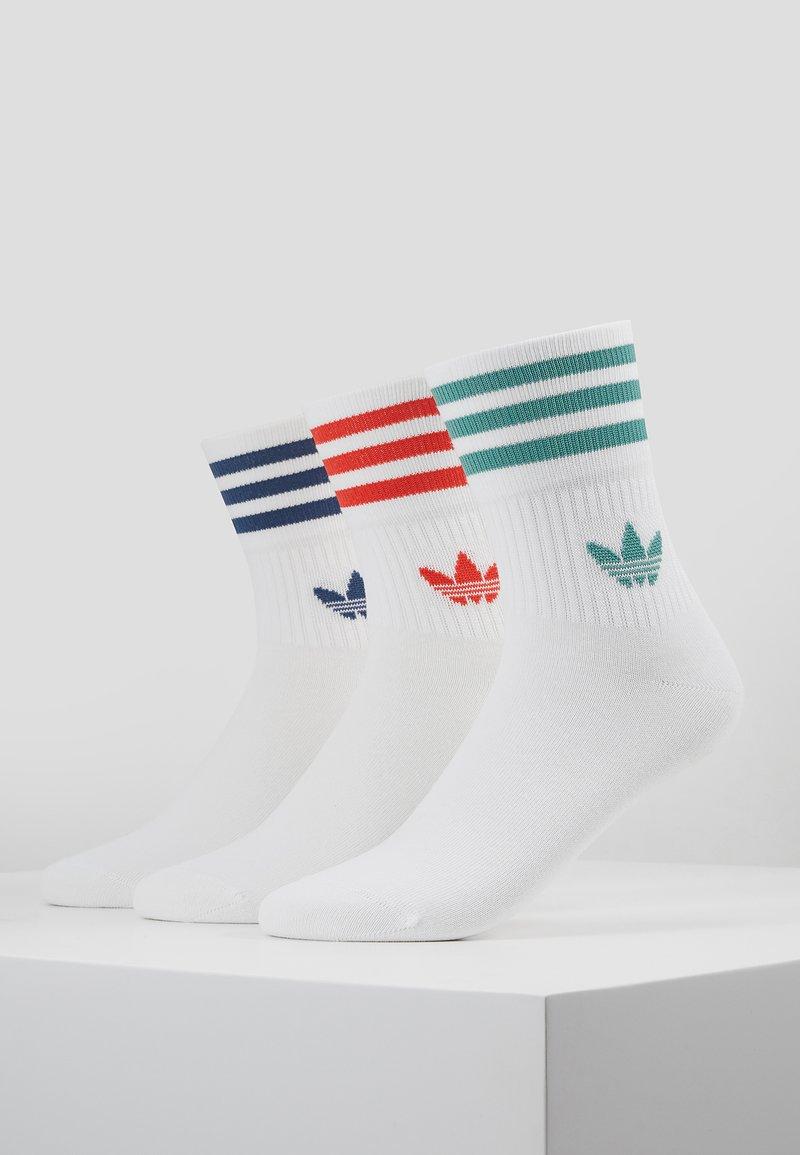 adidas Originals - MID CUT 3 PACK - Socks - white