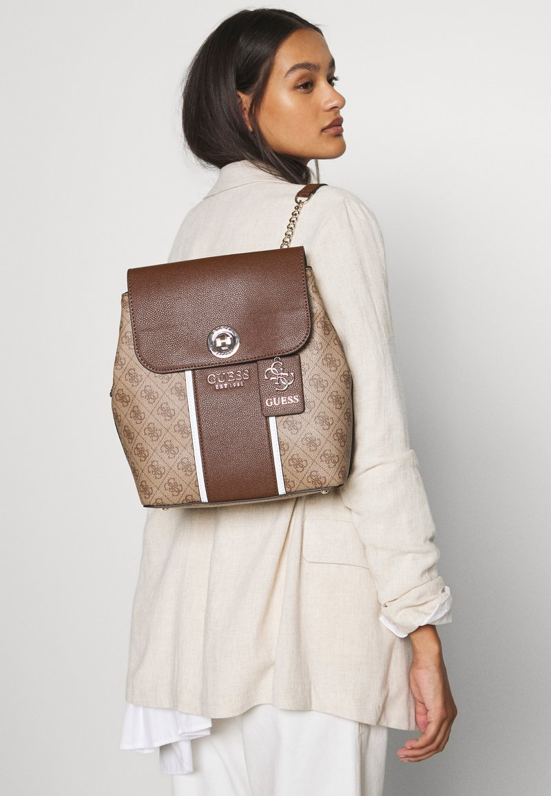 Guess - CATHLEEN BACKPACK - Rucksack - brown