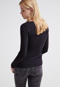 Zalando Essentials - 2 PACK - Long sleeved top - black/black - 3