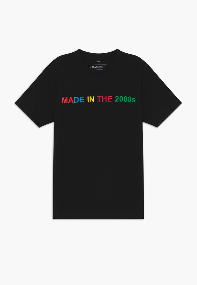 KIDS MADE IN THE 2000S TEE - Printtipaita - black
