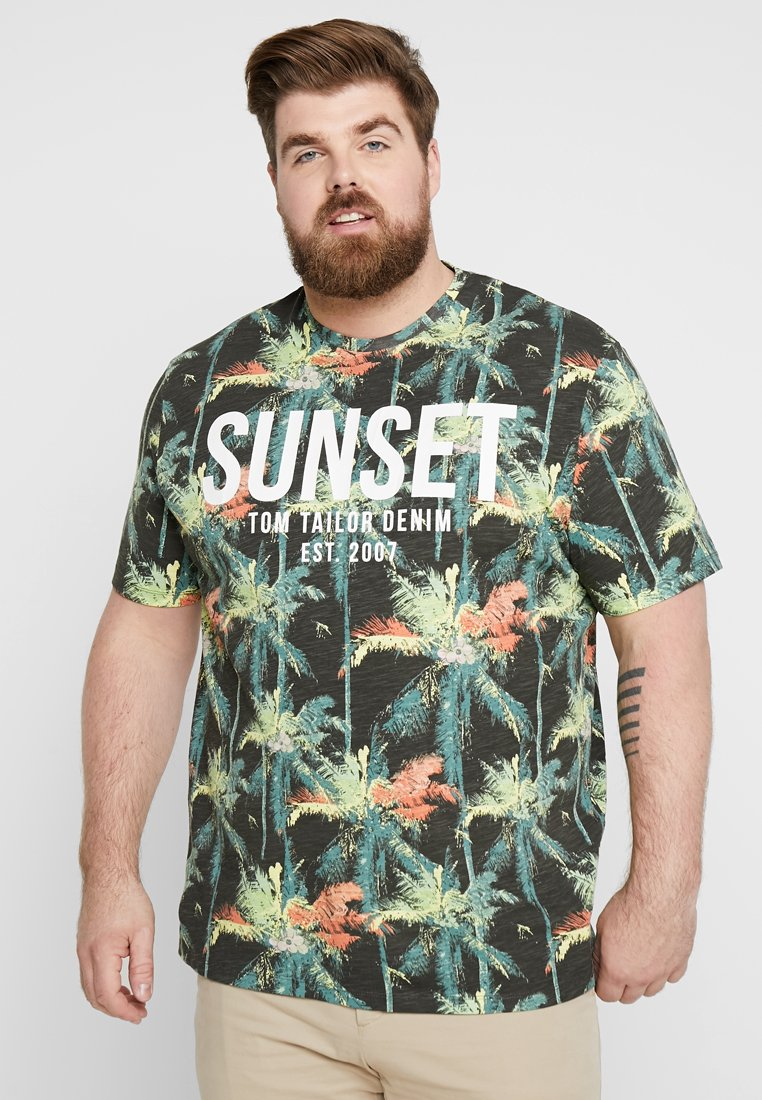 TOM TAILOR DENIM - NEW PLACEMENT - Print T-shirt - multicolor/grey