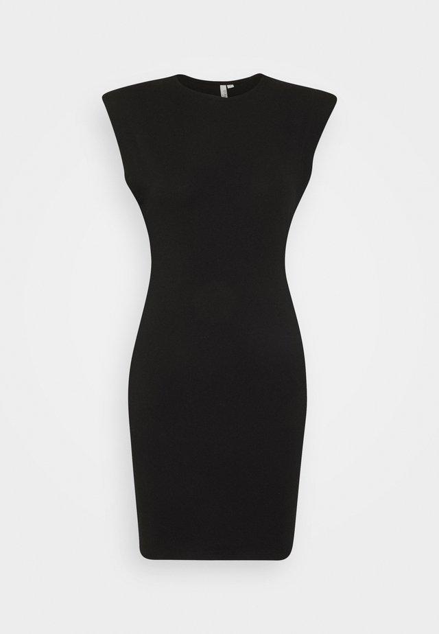 SHOULDER FOCUS DRESS - Robe d'été - black