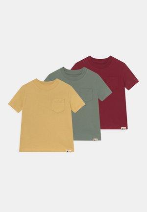 ORGANIC 3 PACK - Print T-shirt - cranberry red