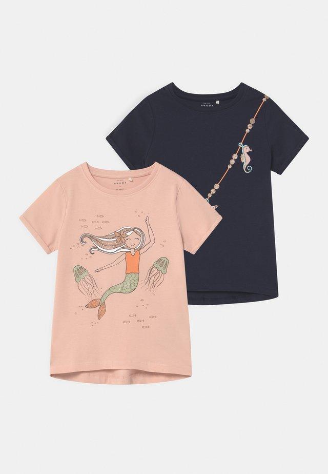 NMFVIX 2 PACK - Print T-shirt - peach whip
