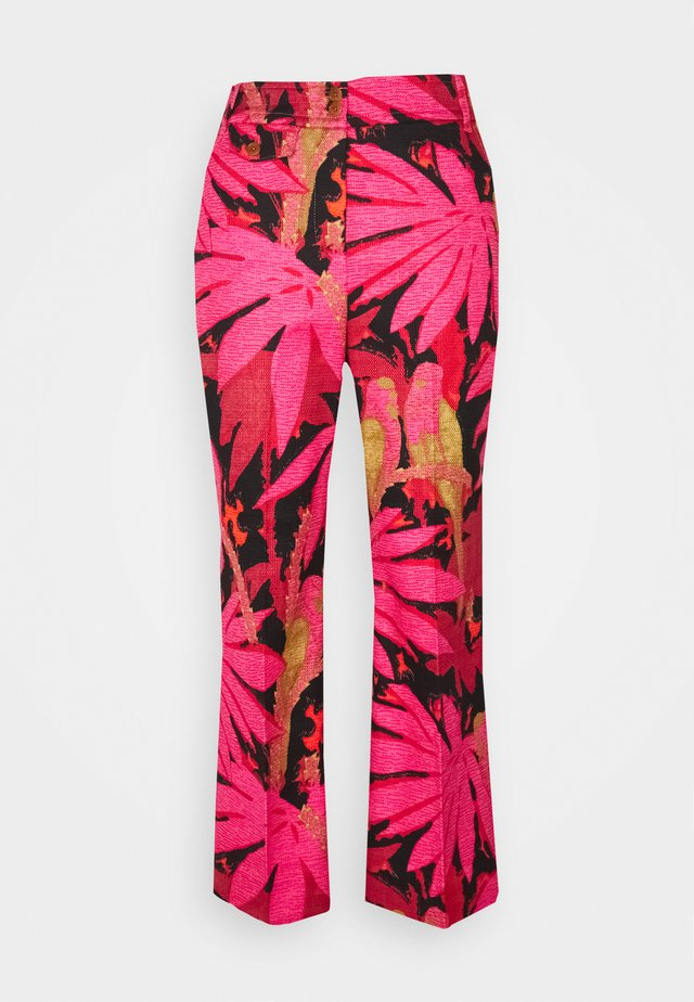 PRINTED ANDERSON PANT GRASSCLOTH - Pantalon classique - pink/red