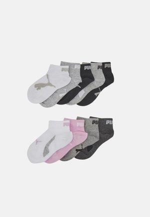QUARTER 9 PACK UNISEX - Socks - black white pink