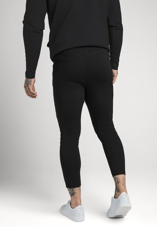 SIKSILK SIKSILK MOTION TAPE ZIPTHROUGH - Bluza z kapturem - black/czarny Odzież Męska GOTN