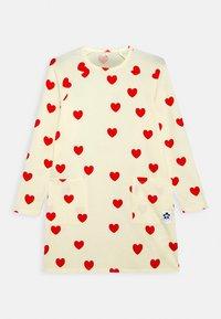 Mini Rodini - HEARTS DRESS - Jersey dress - off white - 0