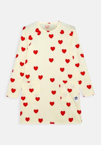 HEARTS DRESS - Jerseykleid - off white