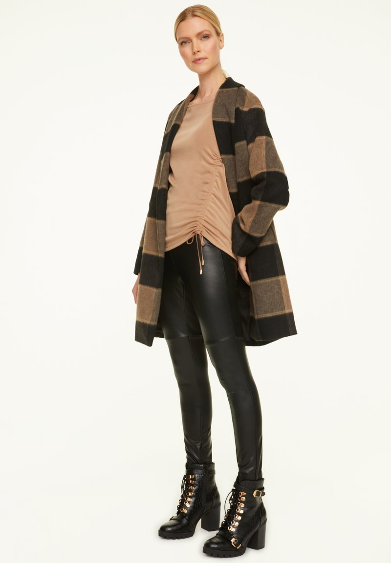 comma - Long sleeved top - chocolate camel