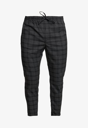 ELGO - Trousers - black/white