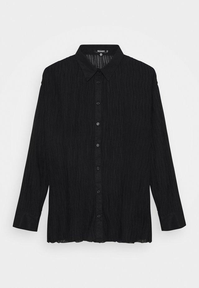 PLISSE - Button-down blouse - black