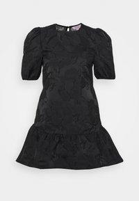 Miss Selfridge Petite - DAISY TIERRED MINI DRESS - Vapaa-ajan mekko - black - 4