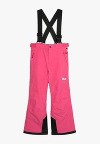 Jack Wolfskin - POWDER MOUNTAIN PANTS KIDS - Schneehose - pink fuchsia - 0