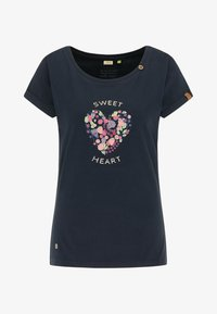 Ragwear - Print T-shirt - navy uni - 3
