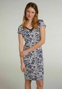 Oui - Shift dress - white blue - 0