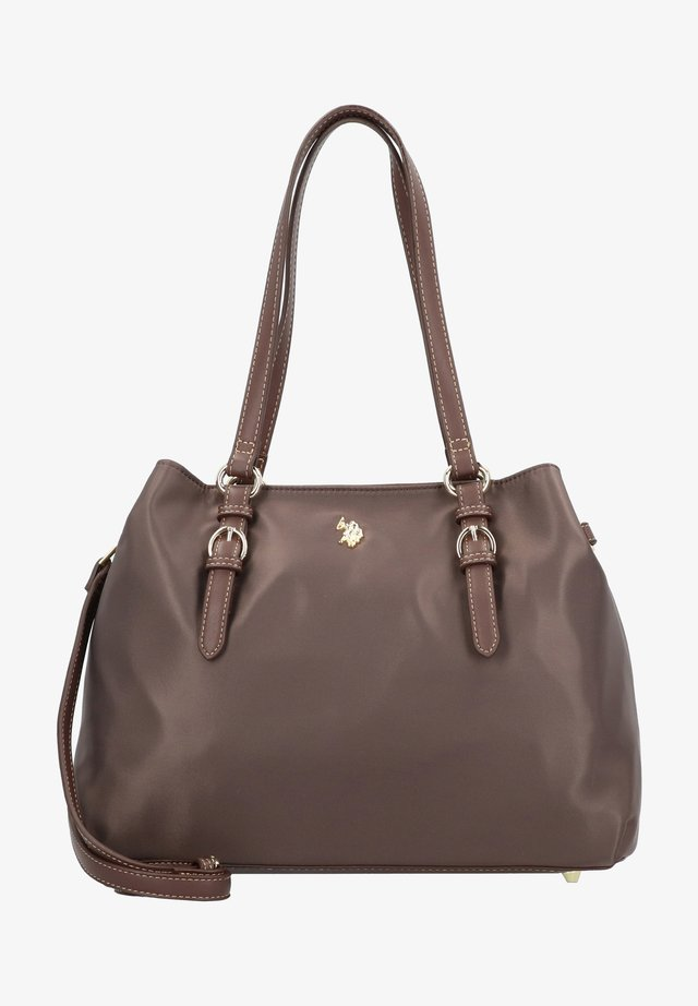 HOUSTON HANDLE BAG - Borsa a mano - dark brown