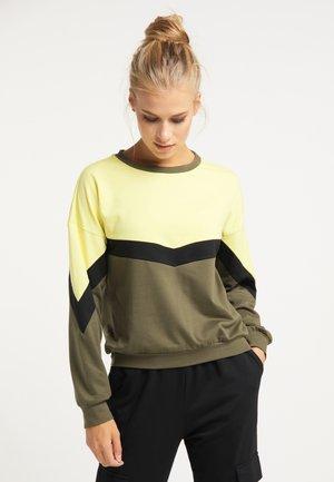 Sweatshirt - oliv schwarz gelb
