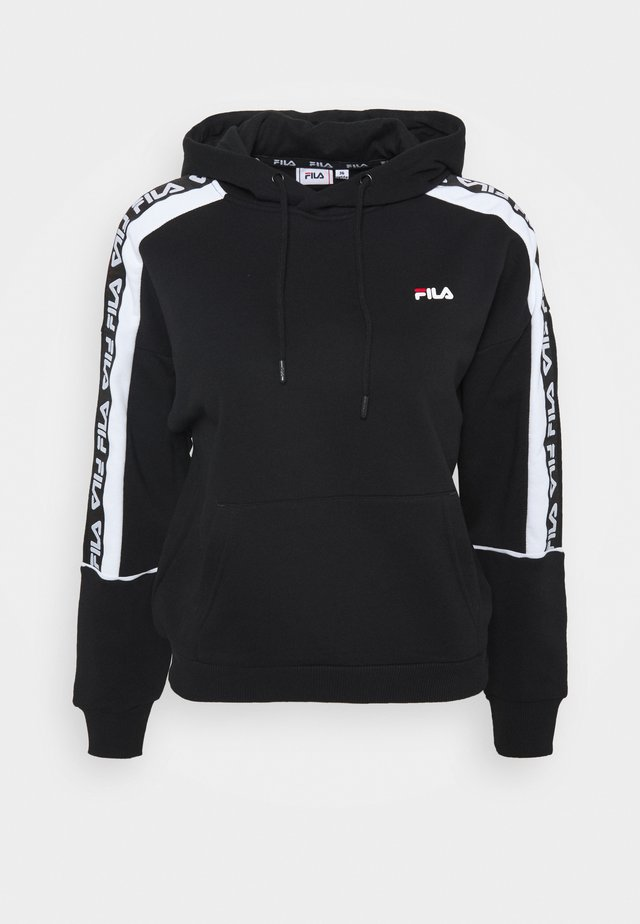 TAVORA HOODY - Sweat à capuche - black/bright white