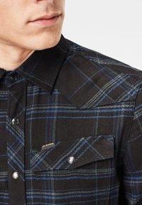 G-Star - 3301 SLIM LONG SLEEVE CHECK - Overhemd - pitch black yoko check - 3