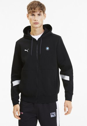 PUMA BMW M MOTORSPORT HOODED MEN'S SWEAT JACKET MALE - veste en sweat zippée - puma black
