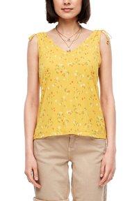 s.Oliver - TOP MIT FLORALEM PRINT - Blouse - yellow aop - 0