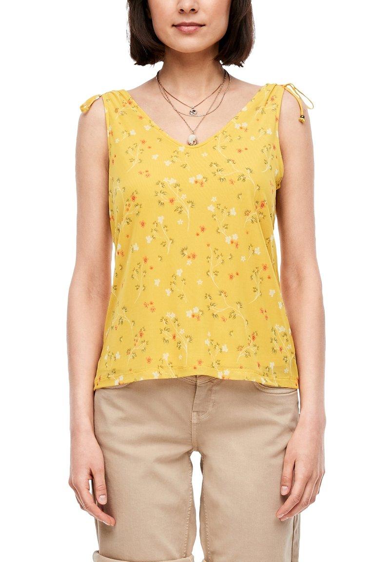 s.Oliver - TOP MIT FLORALEM PRINT - Blouse - yellow aop