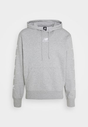 ESSENTIALS STACK PACK HOODIE - Hoodie - mottled light grey