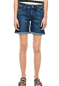 s.Oliver - Denim shorts - blue denim stretch - 0