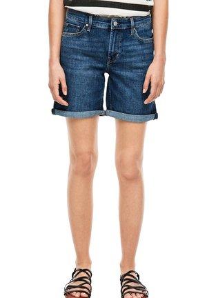 Denim shorts - blue denim stretch